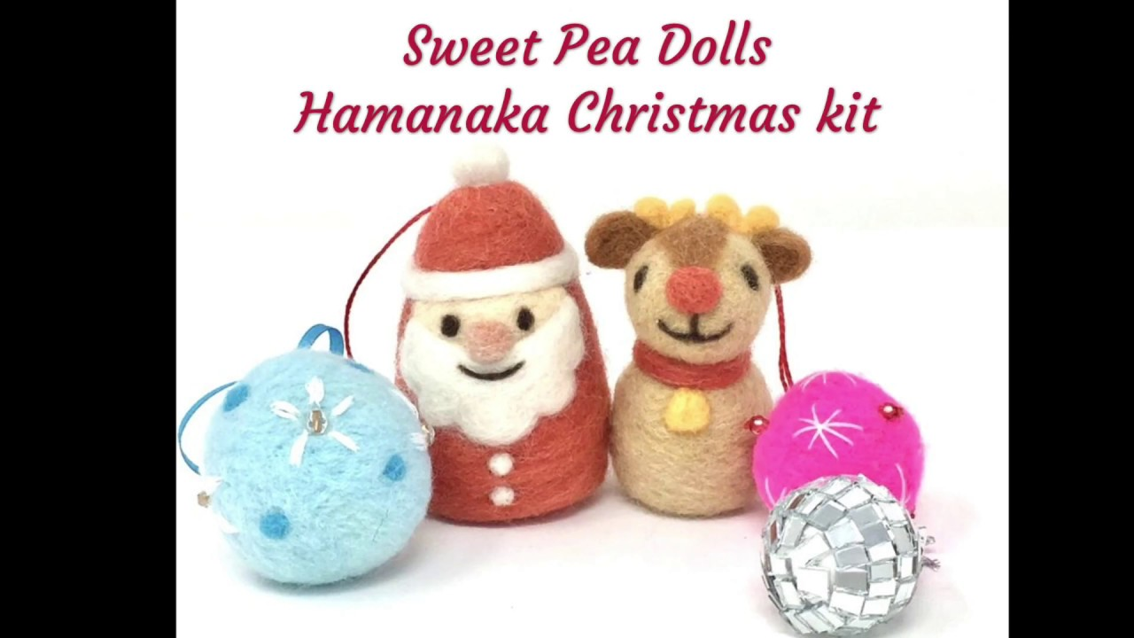 Rudolph Christmas Decorations.Needle Felted Christmas Decorations Tutorial Hamanaka Santa And Rudolph