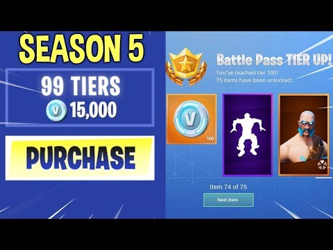 BUYING ALL THE BATTLE PASS TIERS IN SEASON 5!