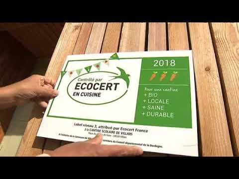 La cantine bio de Villars est certifiée niveau 3 Ecocert