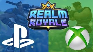 REALM ROYALE ON PS4 LIVE (Finally) - Road to Top Console Player! Is it Better than Fortnite?