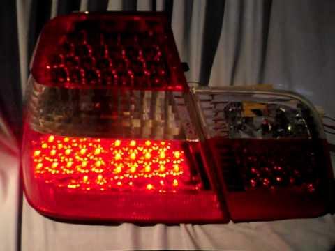 led r ckleuchten bmw e46 limousine 98 01 red crystal 4. Black Bedroom Furniture Sets. Home Design Ideas
