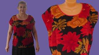 Как пошить блузку большого размера без вытачки