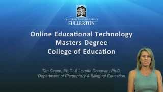 Online MS in Educational Technology at California State University, Fullerton