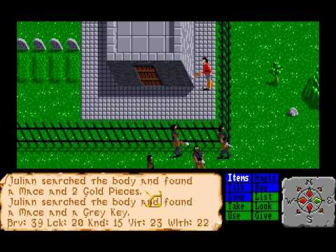 Let's Play (again) The Faery Tale Adventure (this time on the Amiga) Part 1.1