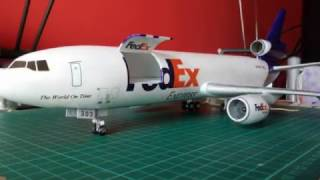 Video McDonnell Douglas DC10 30F FedEx - Heller 1:125 download MP3, 3GP, MP4, WEBM, AVI, FLV Juni 2018