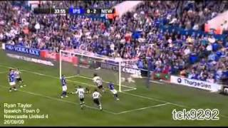 Newcastle united 09/10 all the goals part 1