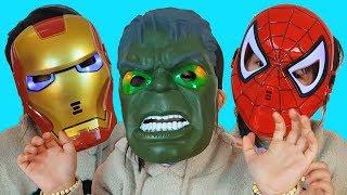 Colors Song, Van Pretend Play With Superheroes Mask, Baby Nursery Rhymes For Kids, BaBiBum