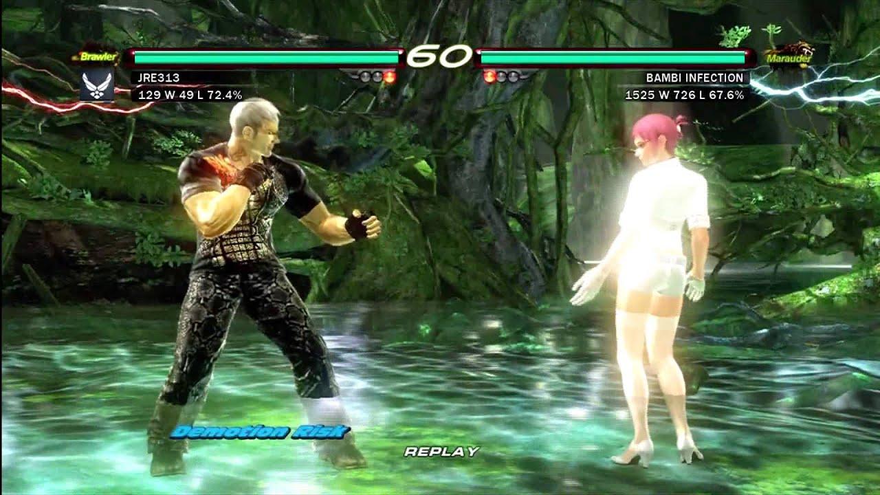 Tekken 6 Xbox360 Hd Online Bryan Fury Vs Alyssa