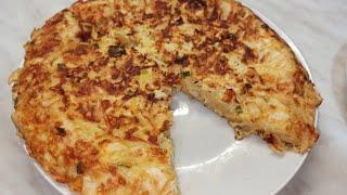 Ленивый пирог из лаваша с курицей и сыром Пирог на сковороде