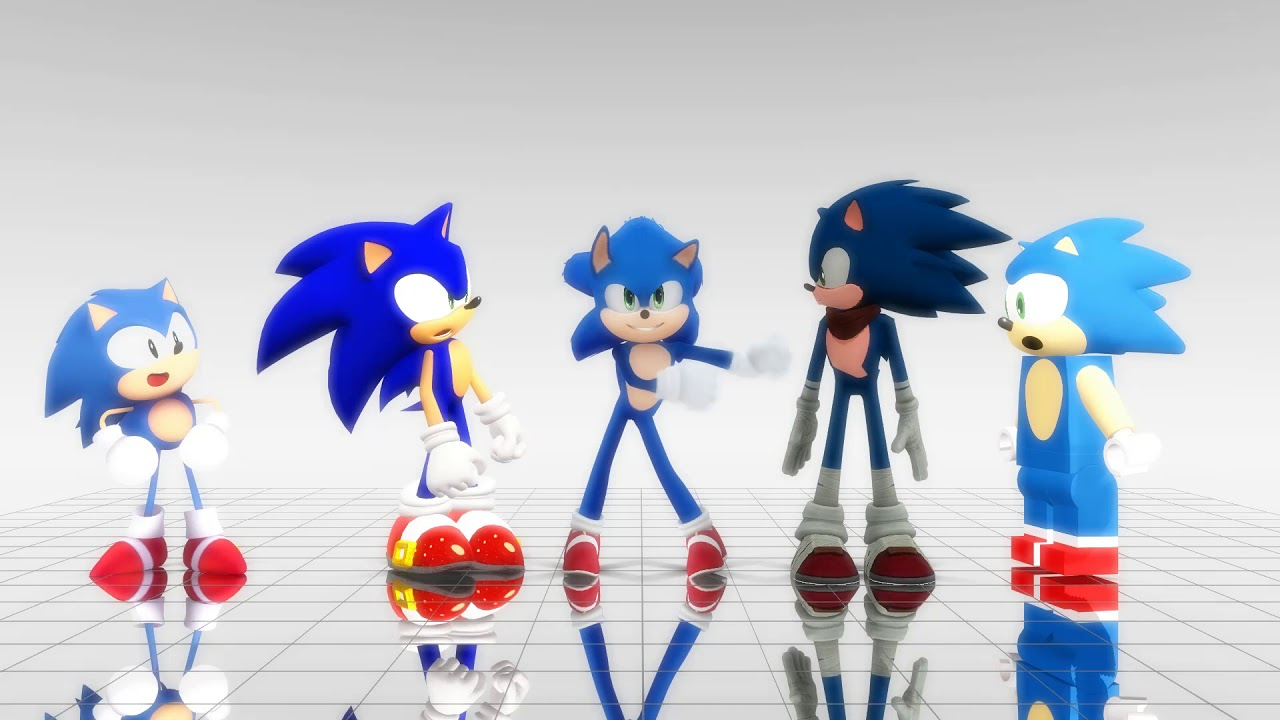 5 Versions Of Sonic Floss Dance Off Movie Modern Boom Classic Lego Sonic Mmd Youtube