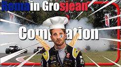 Romain Grosjean Crashes Compilation