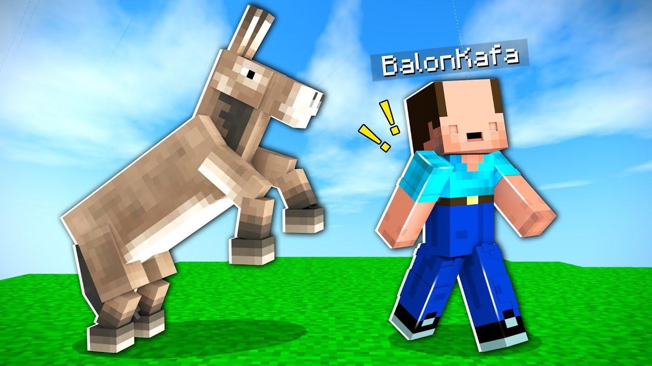 EŞŞEK OLARAK MİNECRAFT OYNAMAK !! - Minecraft