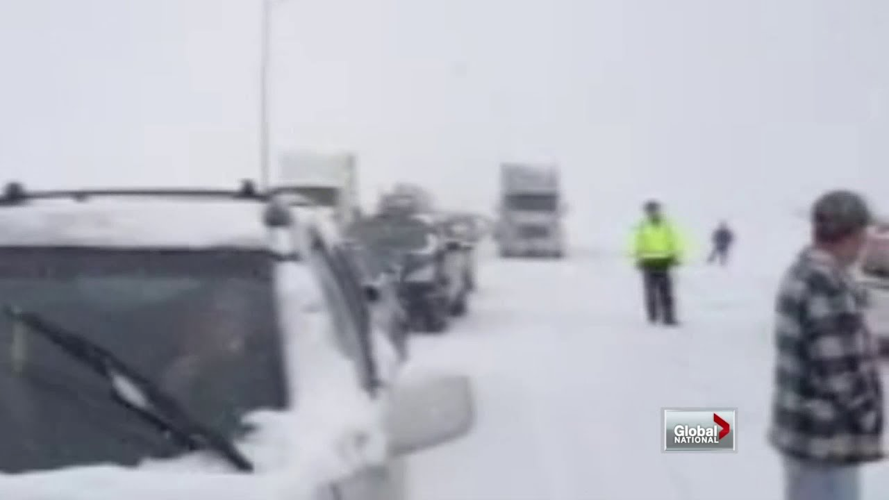 100 car pile-up in Alberta