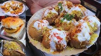 Dahi Puri | Samosa Chaat | Butter Masala Vada Pav | Indian Street Food Compilation