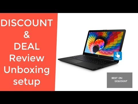"""HP 15.6"""" HD 2019 New Touch-Screen Laptop Notebook Computer REVIEW DEAL DISCOUNT SALE UNBOXING SETUP"""