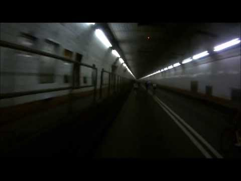 Cycling through the Holland Tunnel (Bike MS 2013)