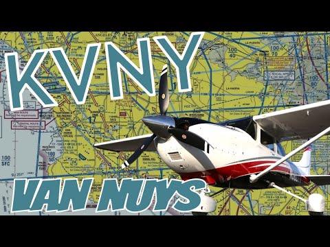 Landing at Van Nuys Airport (KVNY) Runway 16 Right in HD