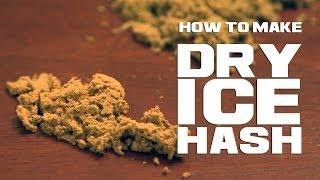 Dry Ice Hash THC Extraction with CO2 Marijuana/ Cannabis Kief Collection Method