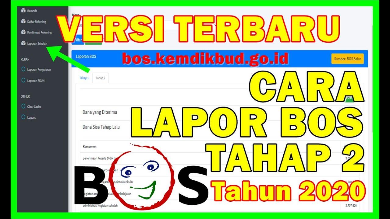 Cara Lapor Bos Tahap 2 Tahun 2020 Di Portal Bos Versi Terbaru Youtube