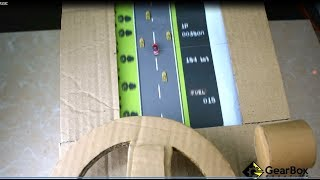 How to Make ROAD FIGHTER CLASSIC Racing Game from Cardboard