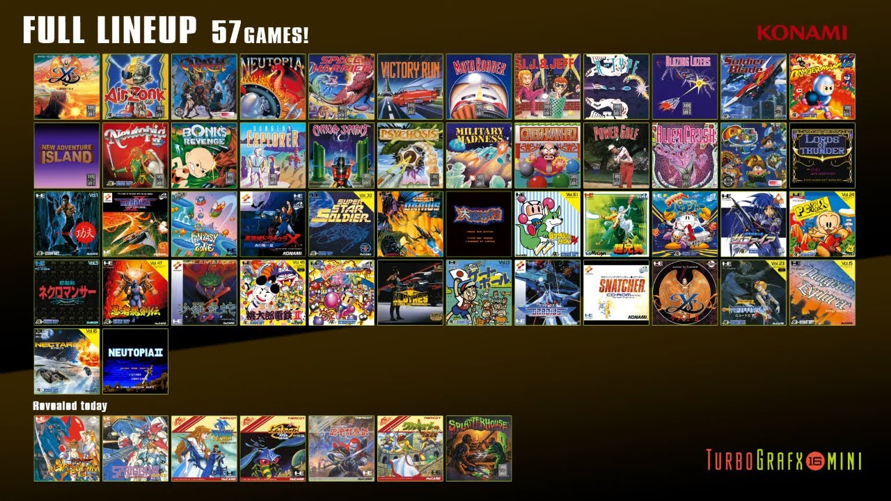 TurboGrafx-16 mini final games lineup announced - Polygon