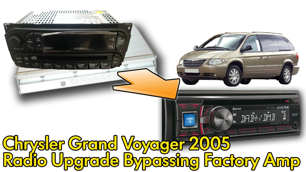 2007 dodge caravan radio wiring diagram refrigerator chrysler voyager 2005 factory and amplifier bypass youtube