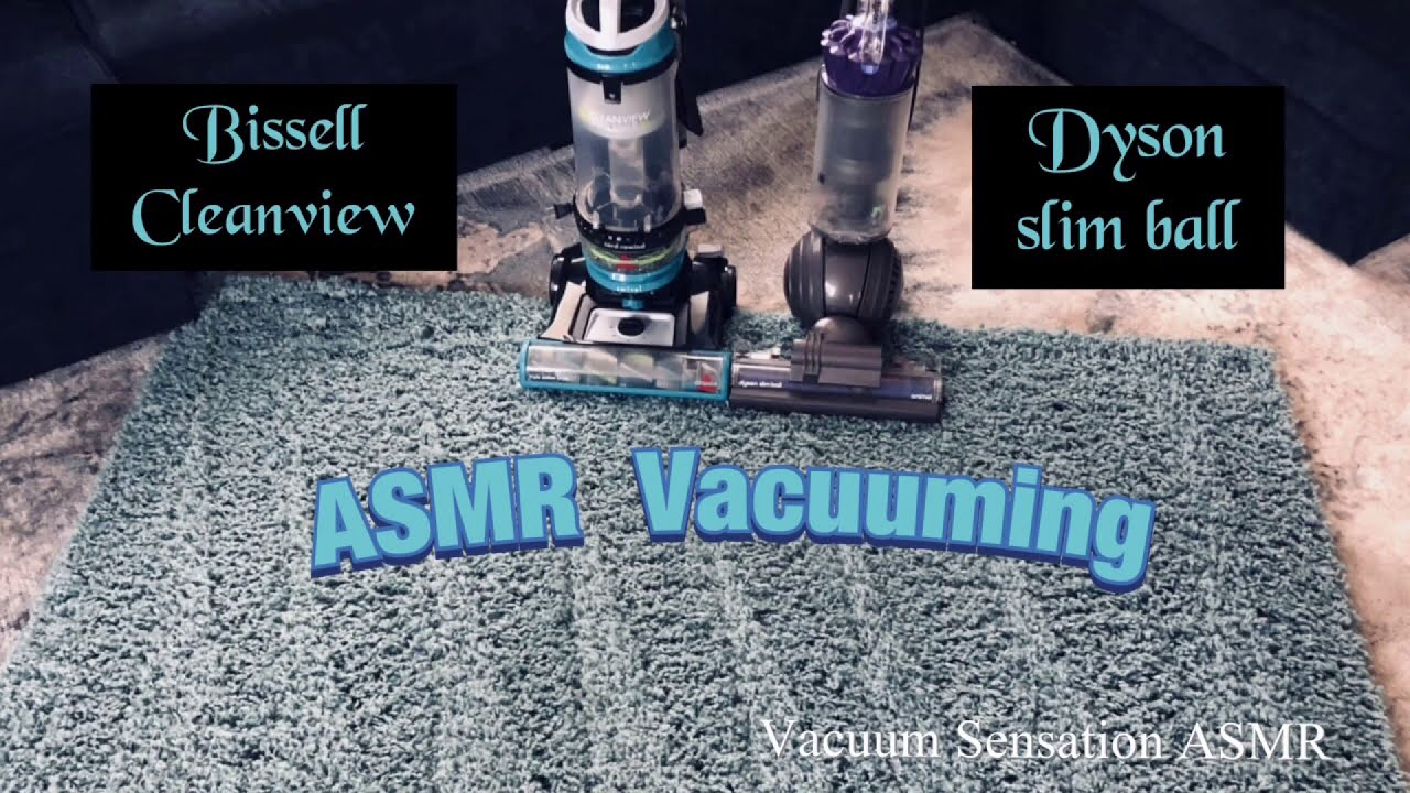 Dyson & Bissell | ASMR Vacuuming | Close up Crunch!