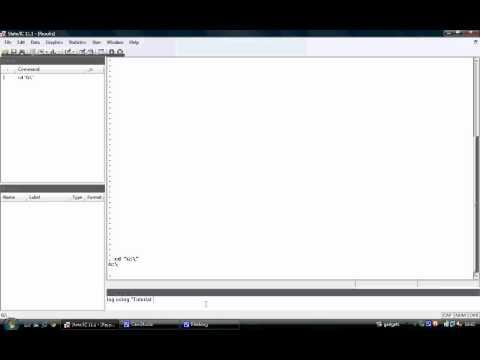 EC6054-2012 Tutorial 8 - Setting Up Stata