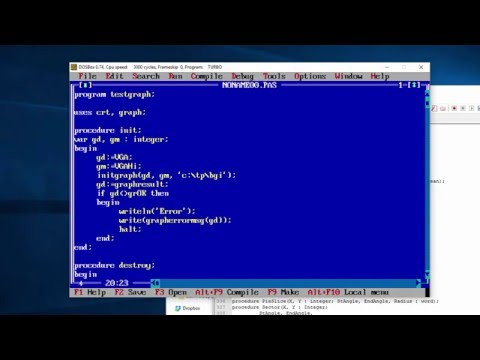 Turbo Pascal Graphics Programming Tutorial Part 1. 16 Colour Mode 640x480.