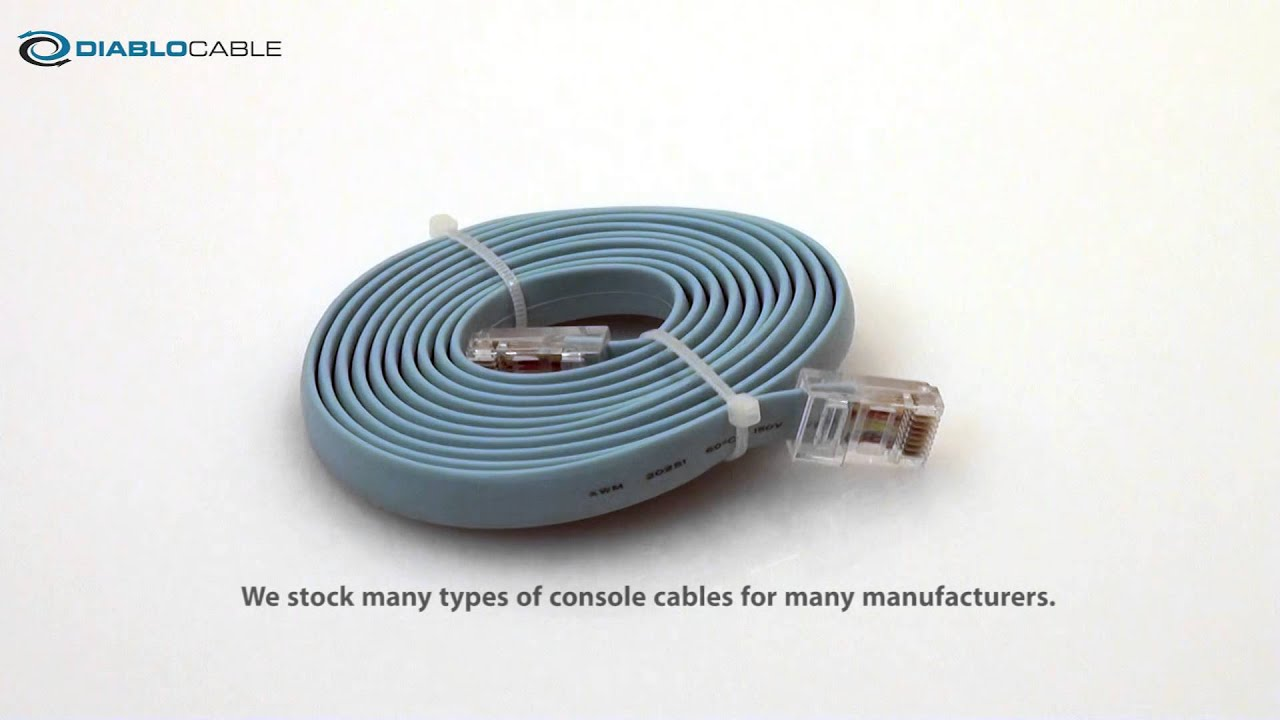 Rollover console cable for Cisco and other console servers 72-1259 ...