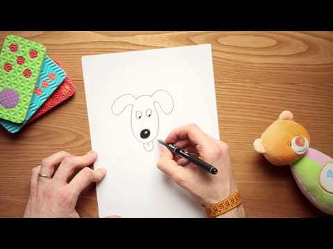 Come disegnare un cane da colorare