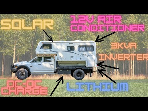What Goes Into an Off-Grid Power System? Overland RV Solar Power System With 12V Air Conditioning