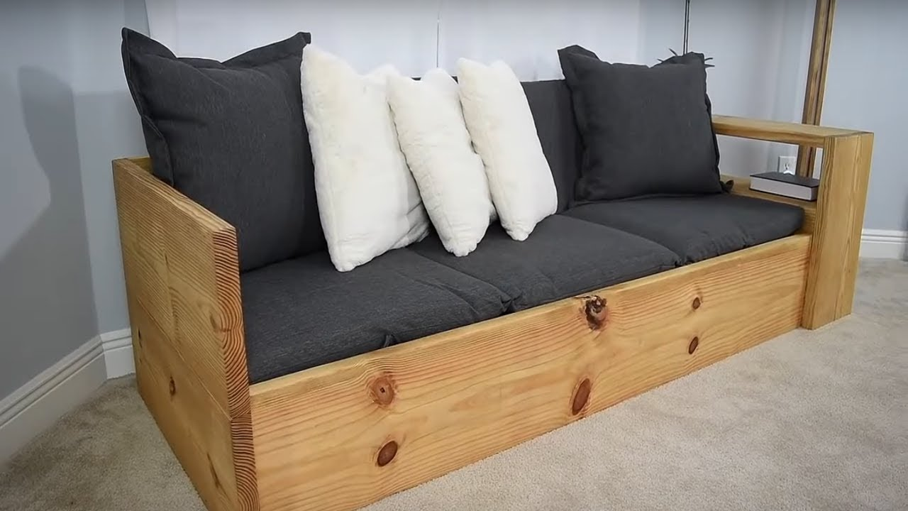 Hazlo Tu Mismo Sofa Cama Convierte Este Sofa En Una Cama Youtube
