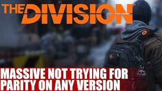 """Massive Not Trying For Parity On The Division 