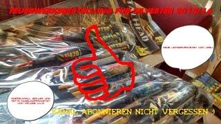 Toschpyro Bestellung  für Silvester 2015/16  (Molokan und Thunder Kong XXL 39,99 Euro)