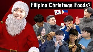 Koreans try Filipino Christmas Foods for the first time!?