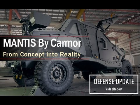 WATCH: Israeli Company Reveals Futuristic 'Mantis' Armored Combat