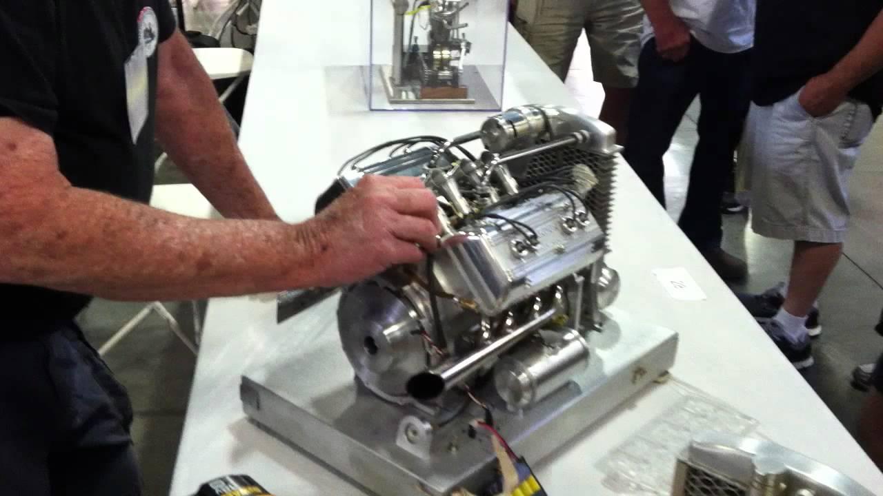 Run Of 1 3 Scale Ardun Model Engine Youtube