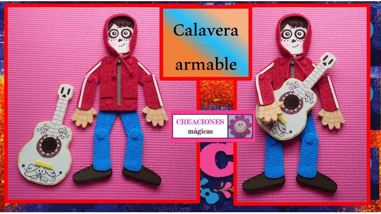 Calavera Armable Vestida De Miguel De Coco Creaciones Mágicas