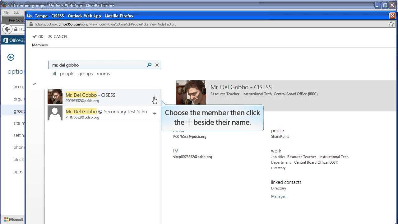 Creating distribution lists in Office 10