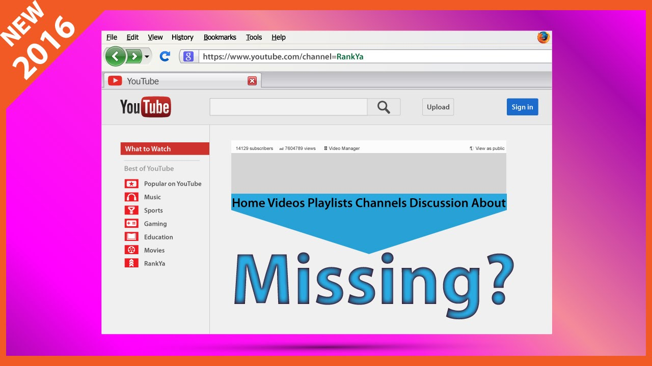 YouTube Navigation Bar Links Missing? How to Fix It