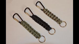 How to make a Paracord Carabiner || Key chain Lanyard || Paracord Tutorial