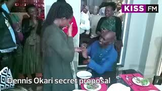 Exclusive: Dennis Okari's secret proposal