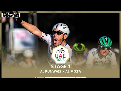 UAE TOUR 2021 - STAGE 1 | PRO CYCLING MANAGER 2020 |