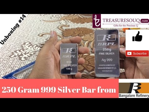 250 Gram Silver Bar Unboxing (India 2017)