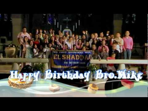 El Shaddai Amsterdam birthday greetings to Bro. Mike