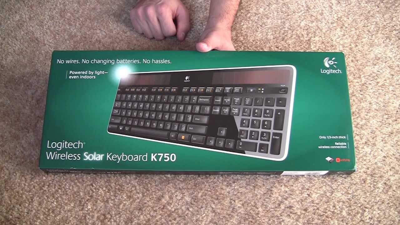 1137647383a Unboxing: Logitech Wireless Solar Keyboard K750 - YouTube
