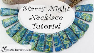 Easy Polymer Clay Project: Starry Night Necklace Tutorial