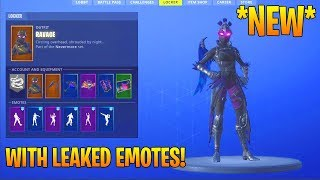 *NEW* RAVAGE SKIN SHOWCASE WITH ALL NEW DANCES/EMOTES! (New Fortnite Skin)