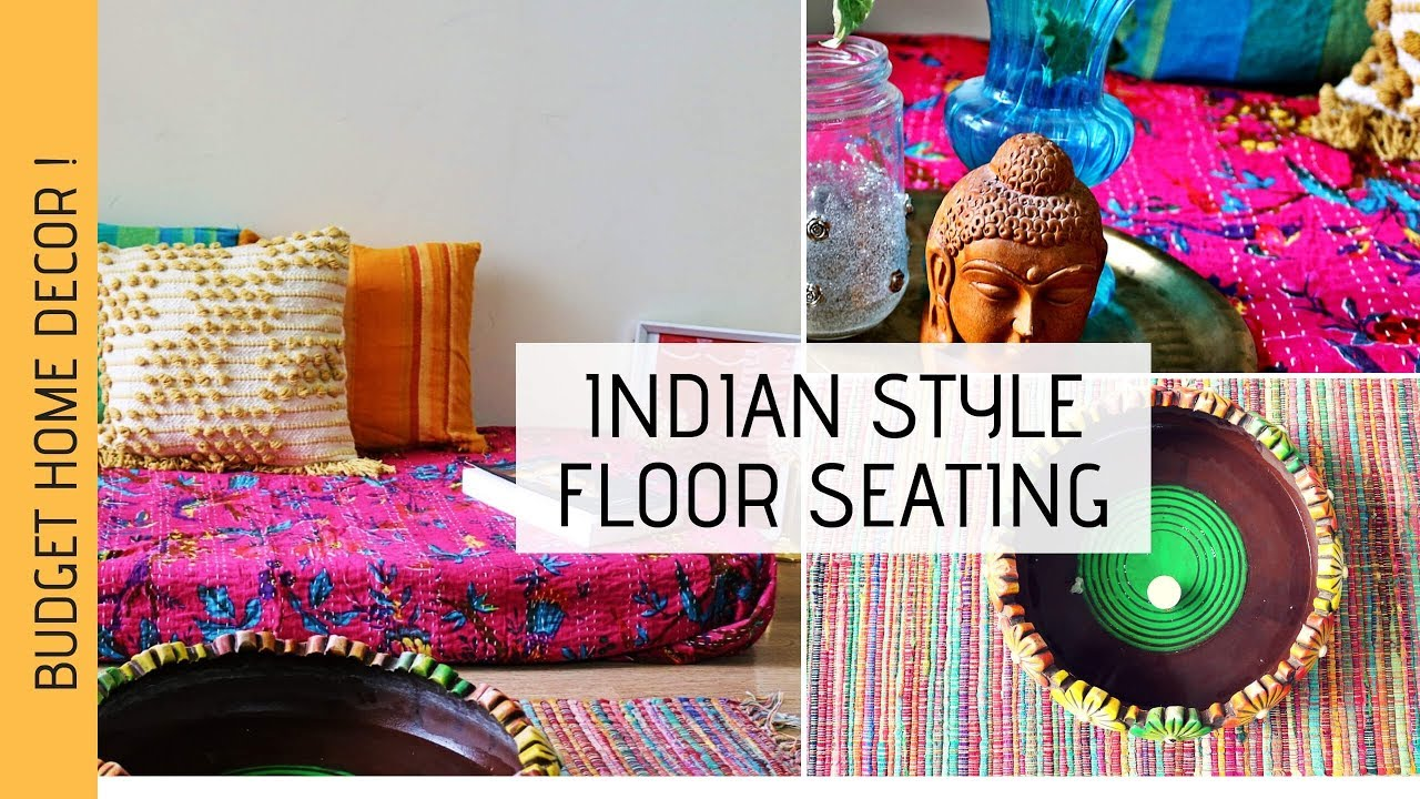 Indian Style Floor Seating   Festive Decor   Living Room Decor   Seating  Area Makeover